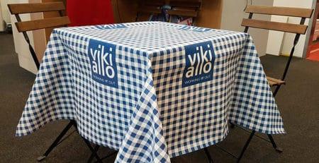 Dug printet paa Emblem ETCTB - Event Table Cloth Textile Back
