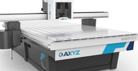CNC fræser fra AXYZ på vej til vikiallos showroom