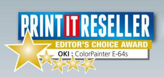 Oki E-64s vinder editors award - print it reseller