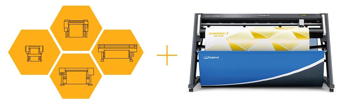 Kombiner din printer med en Roland GR skæreplotter