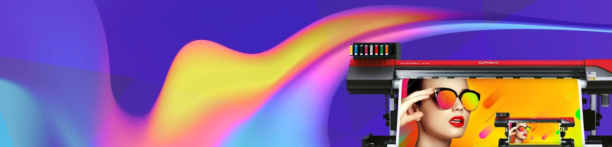 Roland storformatprinter RF-640 8 farver